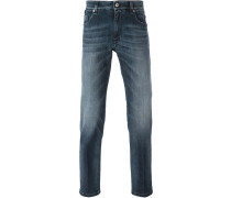 "Schmale Jeans mit ""Bag Bugs""-Detail"