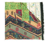 contrast pattern scarf