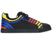 primary colour stripe trainers