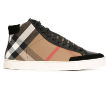 High-Top-Sneakers mit Karomuster - men