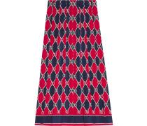Rhombus silk skirt
