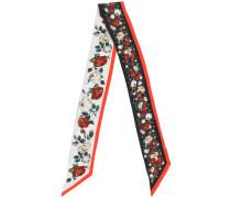 rose print neck scarf