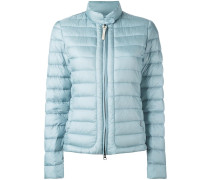 banded collar zipped jacket
