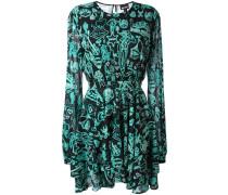 Ausgestelltes Kleid mit Prints