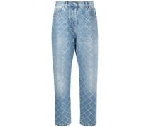 Karierte Jeans