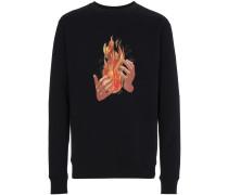 Hemd mit Feuer-Print