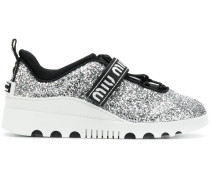 glittered touch-strap trainers