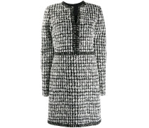 Kariertes Tweed-Minikleid