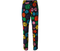 daisy print trousers