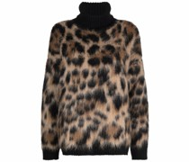 Pullover mit Leoparden-Print