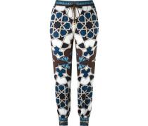 geometric print track pants
