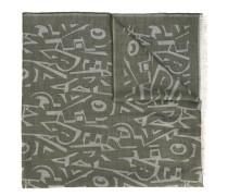 graphic Ferragamo lettering scarf