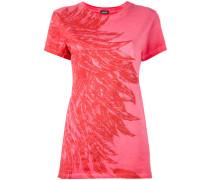 T-Shirt mit Feder-Print - women - Baumwolle - S