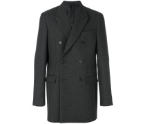 tailored buttoned-up coat