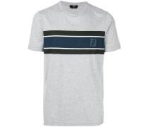 contrast panel logo T-shirt