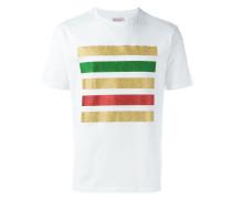 T-Shirt mit Glitzerstreifen