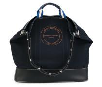 tote bag - women - Baumwolle/Kalbsleder