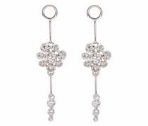 18kt white gold Marguerite diamond earring drops