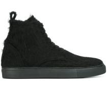 furry hi-top sneakers