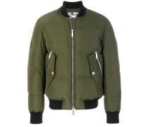 front zipped bomber jacket