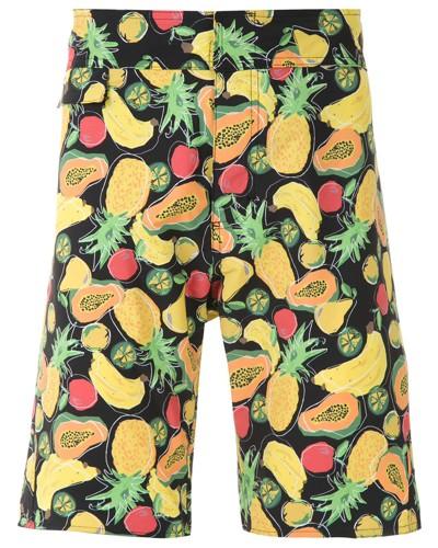 Badeshorts mit Früchte-Print