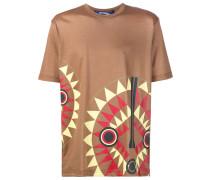 T-Shirt mit Masken-Print