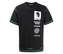 T-Shirt mit Cyborg-Print