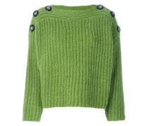 Oversized-Pullover mit Zierknöpfen
