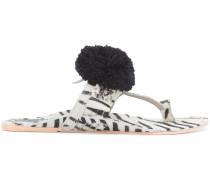 'Zebra' Pantoletten