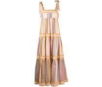 stripe-print tiered maxi dress