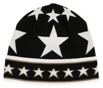 Intarsien-Mütze mit Sternen
