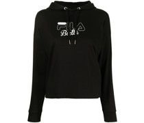 Lorelei logo-print cotton hoodie