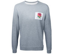 Sweatshirt mit Rosen-Patch