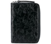 - crease-effect zip wallet - men - Kalbsleder