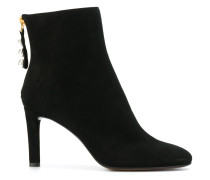 pearl zip ankle boots