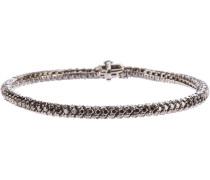 18kt Weißgoldarmband mit schwarzen Diamanten