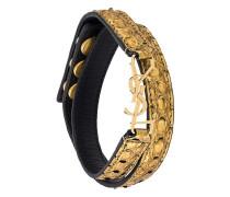 'YSL' doppeltes Armband aus Pythonleder