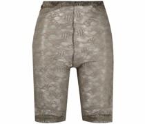 Semi-transparente Shorts mit Stickerei