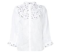 Semi-transparentes Hemd mit Rüschenlatz