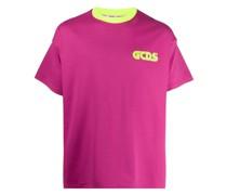 T-Shirt mit neonfarbenem Logo