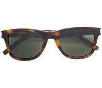 rectangle frame tortoiseshell sunglasses