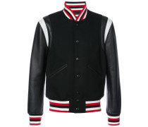 - striped trim bomber jacket - men