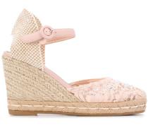 Wedge-Sandalen mit Kristallen
