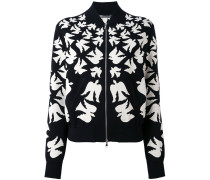 flocked swallow bomber jacket - women