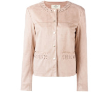 stitched detail jacket - women - Polyester - 8