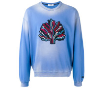 Sweatshirt mit Baum-Patch - men - Baumwolle - S