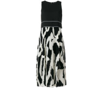 Graffiti Pleated Long Dress
