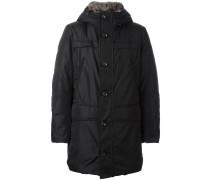 Mittellanger Mantel mit Reißverschluss