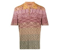 Gestricktes Intarsien-Poloshirt