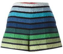 Gestreifte Strick-Shorts